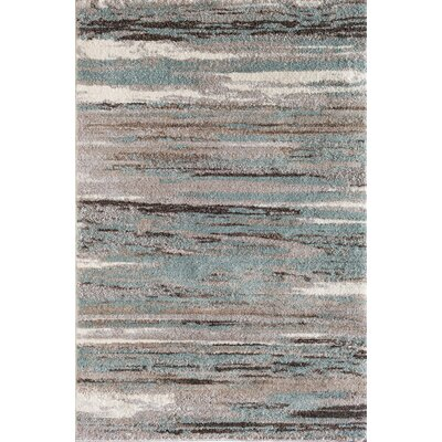 Stillwater Glass Gray/Beige Area Rug Rug Size: 5 x 76