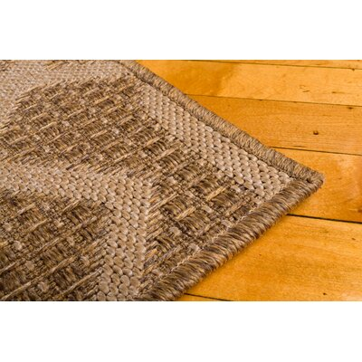 Annica Intertwined Fretwork Beige Indoor/Outdoor Area Rug Rug Size: 67 x 96