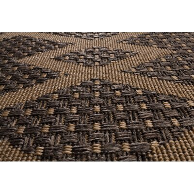Annica Chevron Diamonds Gray Indoor/Outdoor Area Rug Rug Size: 53 x 77