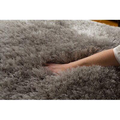 Albertina Platinum Hand-Tufted Gray Area Rug Rug Size: 76 x 96