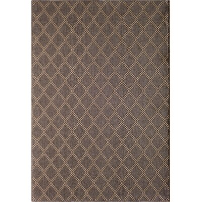 Annica Diamond Pebble Gray Indoor/Outdoor Area Rug Rug Size: 53 x 77