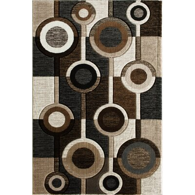 Tammi Hand Carved Brown/Gray/Black Area Rug Rug Size: 5 x 73