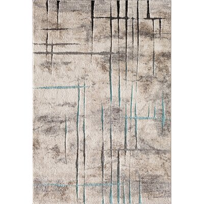 Charlette Gray Area Rug Rug Size: 710 x 910
