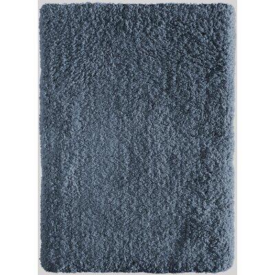 Voorhees Shag Hand-Tufted Indigo Blue Area Rug Rug Size: 76 x 96