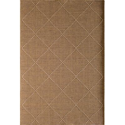 Annica Large Trellis Beige Indoor/Outdoor Area Rug Rug Size: 53 x 77