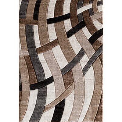 Maricela Hand Carved Beige/Gray/Black Area Rug Rug Size: 710 x 910