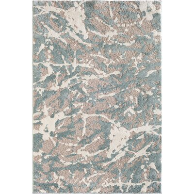 Glastenbury Abstract Gray/Blue Area Rug Rug Size: 710 x 910