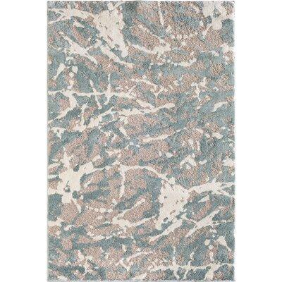 Wabasha Glass Gray/White Area Rug Rug Size: 710 x 910