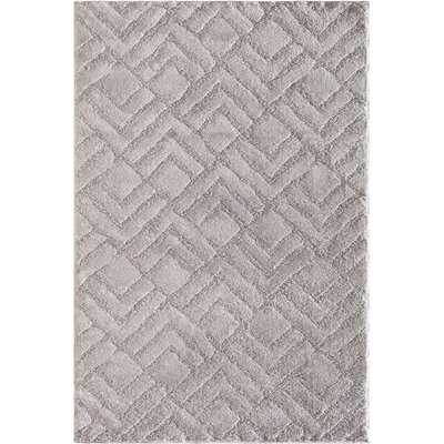 Hibbing Cloud Gray Area Rug Rug Size: 710 x 910