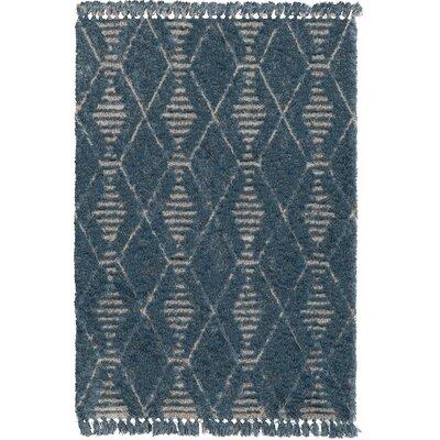 Carlita Blue/Beige Area Rug Rug Size: 5 x 7
