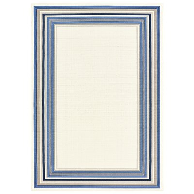 Beechmoor Ivory/White Indoor/Outdoor Area Rug Rug Size: 5 x 73