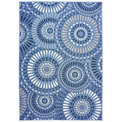 Vedette Blue/Gray Indoor/Outdoor Area Rug Rug Size: 67 x 96