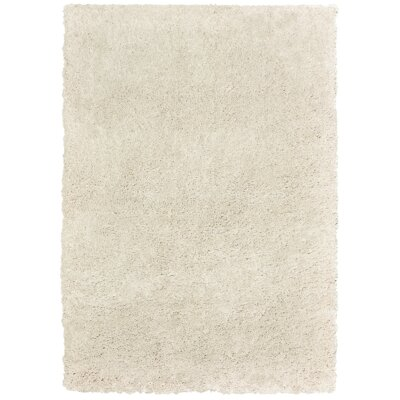 Seward Shag Rectangle Hand Tufted Cream Area Rug