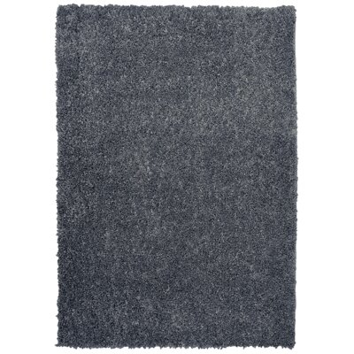 Nutley Shag Hand Tufted Black Area Rug