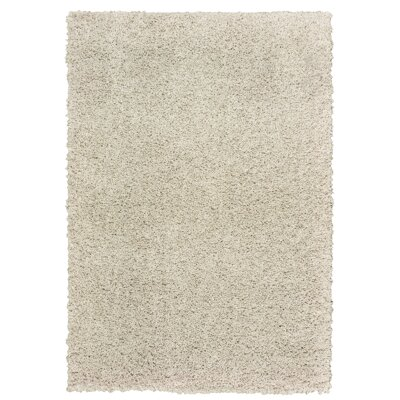 Nutley Shag Rectangle Hand Tufted Light Beige Area Rug