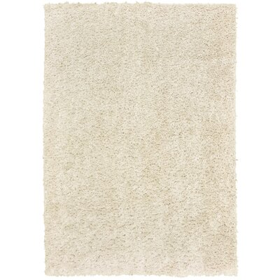 Nutley Shag Rectangle Hand Tufted Cream Area Rug