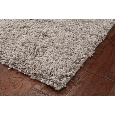 Nutley Shag Hand Tufted Light Gray Area Rug Rug Size: 60 W x 84 L