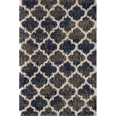 Hien Moroccan Trellis Navy Blue Area Rug Rug Size: Rectangle 5 x 76