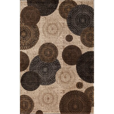 Hettick Chandler Beige Brown/Gray Area Rug Rug Size: 67 x 96