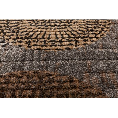 Hettick Chandler Gray Blue/Brown Area Rug Rug Size: 67x96