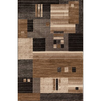 Arreola Modern Quilt Gray/Brown Area Rug Rug Size: 2 x 3