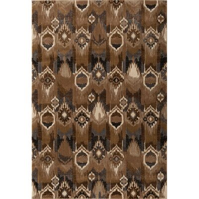 North Ikat Brown Area Rug Rug Size: 711 x 1010