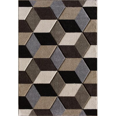 Badgett Brown Area Rug Rug Size: 710 x 1010