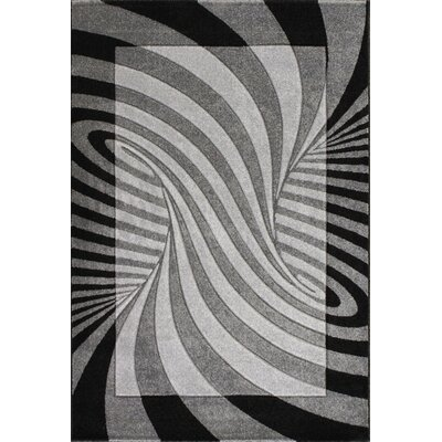 Baier Waves Gray Area Rug Rug Size: 5 x 73