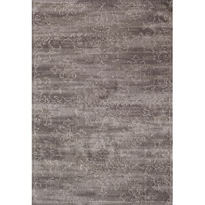 Hubble Hand-Hooked Rectangle Gray Area Rug Rug Size: 5 x 8