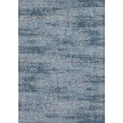 Hubble Hand-Hooked Blue Area Rug Rug Size: 8 x 10