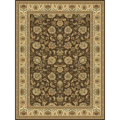 Persian Radiance Regency Brown/Ivory Rug Rug Size: 7'10