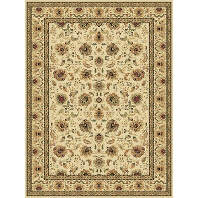Persian Radiance Regency Ivory/Wheat Rug Rug Size: 7'10