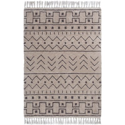 Boveney Cream/Gray Area Rug Rug Size: 5 x 7