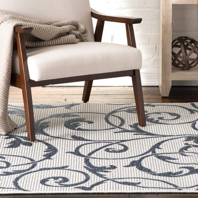 Edward Cream/Blue Indoor/Outdoor Area Rug