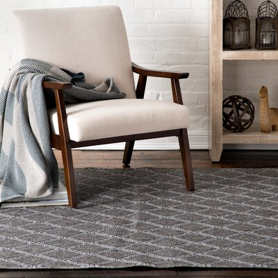 Pinner Diamond Granite Gray Indoor/Outdoor Area Rug