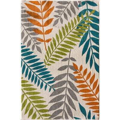 Encarnacion Blue/Green/Orange Area Rug Rug Size: Rectangular 710 x 910