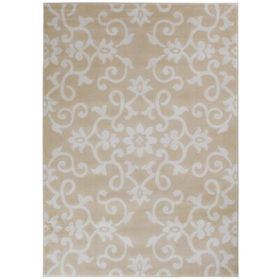 Eibhlin Snow/Buff Beige/Cream Area Rug Rug Size: Rectangle 710 x 910