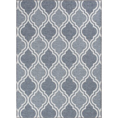 Aloysius Moroccan Gray Indoor/Outdoor Area Rug