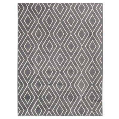 Braysham Stone Gray/White Indoor/Outdoor Area Rug