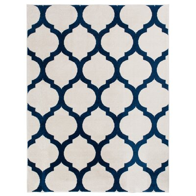 Clarkson Blue/Ivory Indoor/Outdoor Area Rug