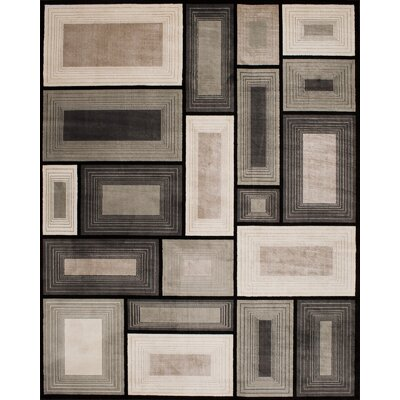 Hammons Block Gray Area Rug Rug Size: Rectangle 67 x 96