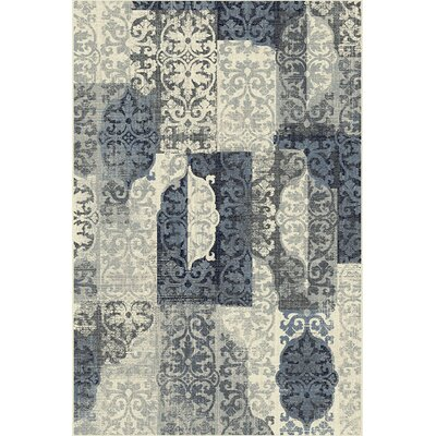 Citlali Gray/Blue Area Rug Rug Size: Rectangle 710 x 910
