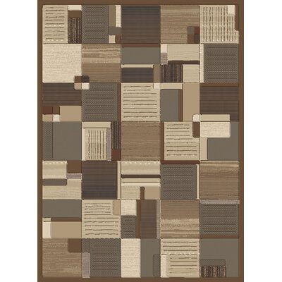 Stone Creek Bastille Coffee Rug Rug Size: 53 x 77