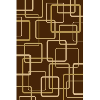 Interlude Circuitry Brown Rug Rug Size: 710 x 910