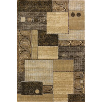 Portland Gold/Yellow Area Rug Rug Size: 710 x 910