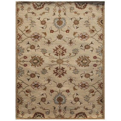 Poeme Taupe/Blue Rug Rug Size: 2' x 3'