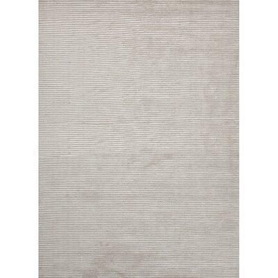 Basis Hand Loomed Snow White/Blanc De Blanc Area Rug Rug Size: 5' x 8'