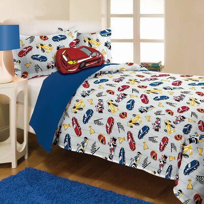 Race Car Mini Comforter Set Size: Twin