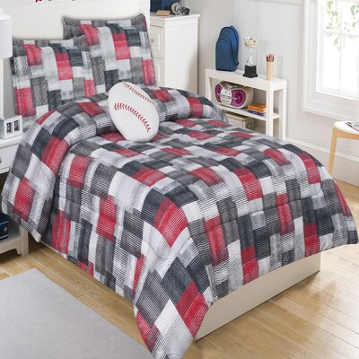 Brandon Plaid 4 Piece Comforter Set Size: Twin