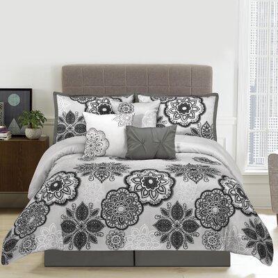 Willow 7 Piece Comforter Set Size: Queen